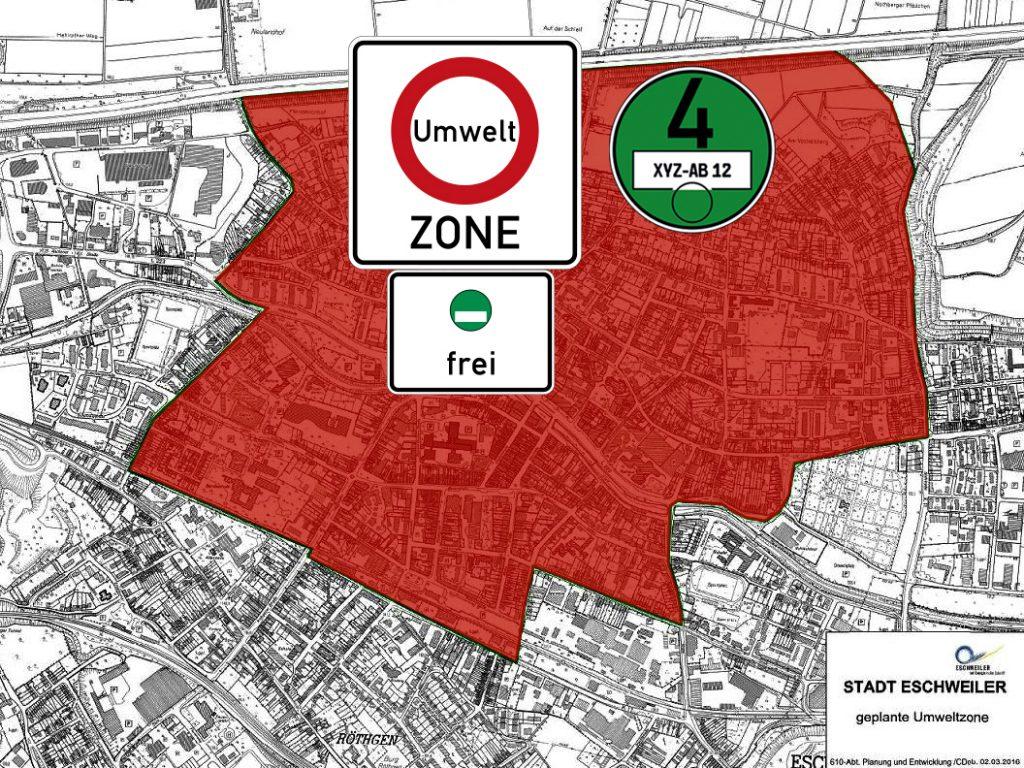 Umweltzone Eschweiler Karte