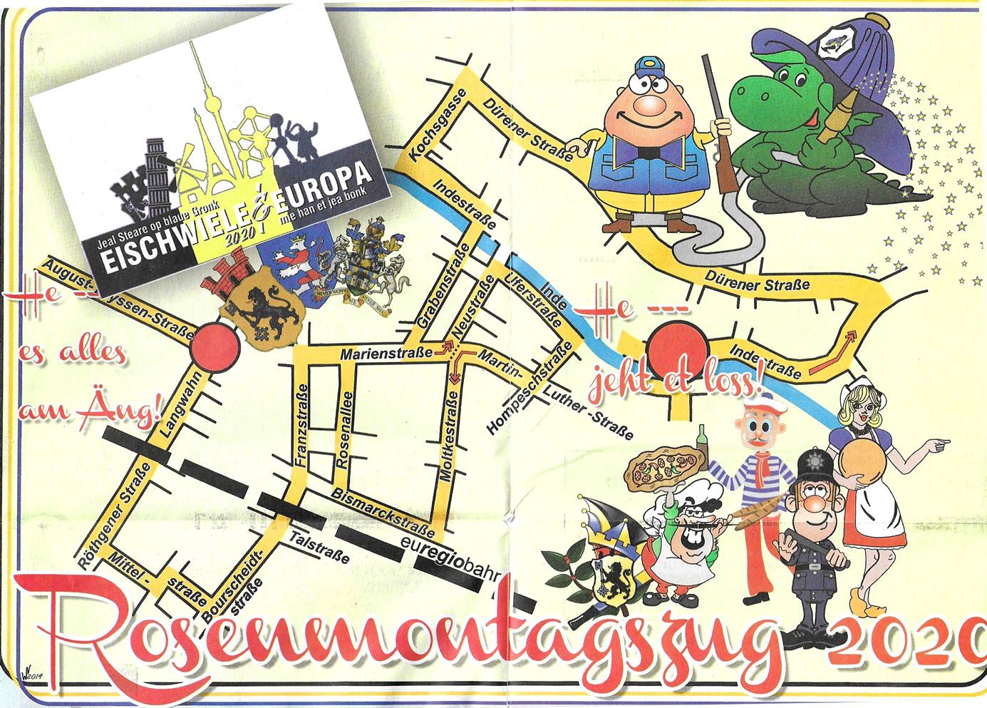 Rosenmontagszug 2020, Karneval in Eschweiler